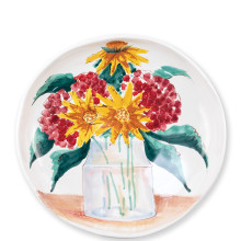 Wall Plates Floral Bouquet Shallow Serving Bowl - 13.25 in. d | Gracious Style