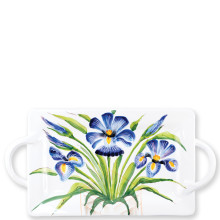 Wall Plates Iris Handled Rectangular Platter - 23.5 in. l, 11.75 in. w | Gracious Style