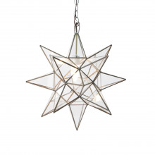 Large Clear Star Chandelier | Gracious Style