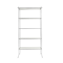 Flare Leg Etagere Shelf In Silver Leaf | Gracious Style