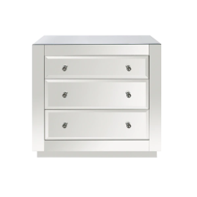 3 Drawer Chest, Beveled Mirror | Gracious Style