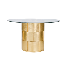 Gold Leaf Basketweave Dining Table | Gracious Style