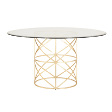 Gold Leaf X Motif Dining Table | Gracious Style