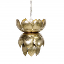 Silver Leaf Tin Pendant With Leaves | Gracious Style