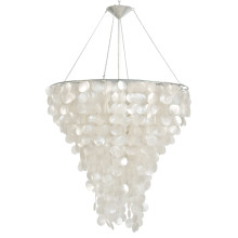 "Capiz Shell Chandelier 30"" Round 