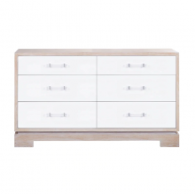 Chest With White Lacquer Drawers And Cerused Oak Case | Gracious Style
