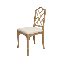 Bamboo Dining Chair In Cerused Oak | Gracious Style