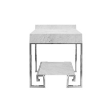 Greek Key Nickel Base With Marble Top | Gracious Style