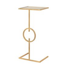Cigar Table In Gold Leaf With Inset Mirror Top | Gracious Style