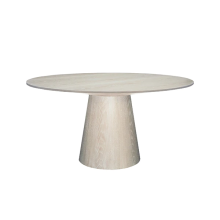 Round Cerused Oak Dining Table Base And Top | Gracious Style
