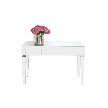 Beveled Mirror 3 Drawer Desk | Gracious Style