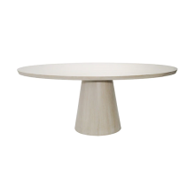 Oval Cerused Oak Dining Table | Gracious Style