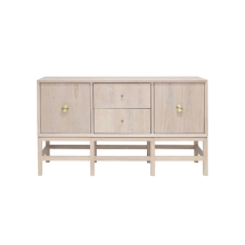 Cabinet In Cerused Oak With Ant Brass Hardware | Gracious Style