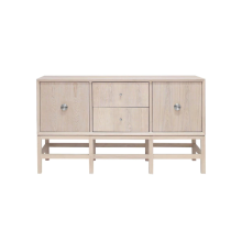 Cabinet In Cerused Oak With Nickel Brass Hardware | Gracious Style