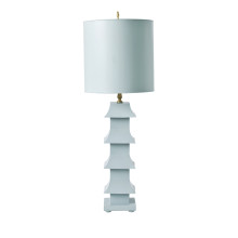 Blue Tole Pagoda Lamp | Gracious Style