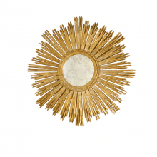 Hand Carved Gold Leaf Starburst Mirror | Gracious Style