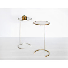 Round Cigar Table Gold Leaf | Gracious Style