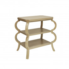 Three Tier Side Table In Cerused Oak | Gracious Style