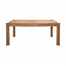 Dining Table With Scallop Edge In Dark Cerused Oak | Gracious Style