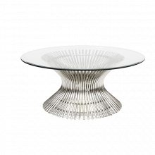 Polished Stainless Coffee Table | Gracious Style