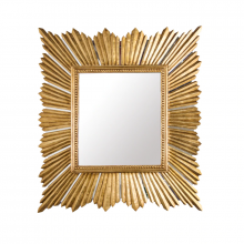 Extra Large Raymond Mirror In Gold Leaf | Gracious Style