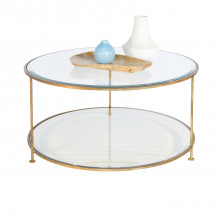 Gold Leaf Two Tier Round Coffee Table | Gracious Style