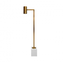 Antique Brass Floor Lamp With Rectangular Marble Base | Gracious Style