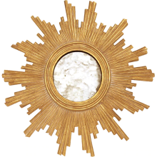 Gold Leaf Hand Carved Mirror, Small | Gracious Style