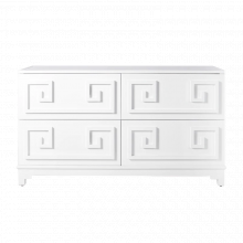 4 Drawer White Lacquer Chest | Gracious Style
