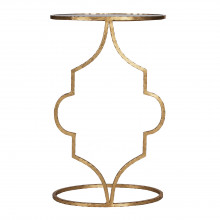 Hammered Gold Leaf Oval Cigar Table | Gracious Style