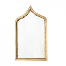 Moroccan Style Gold Leafed Wood Mirror | Gracious Style