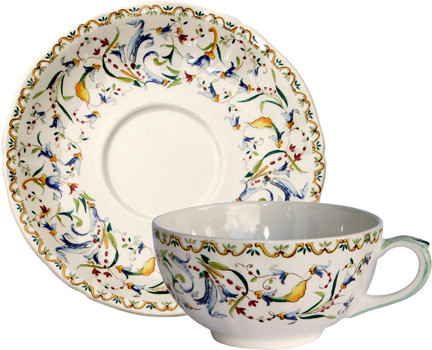 Toscana Breakfast Cups & Saucers 13 Oz - 7 In Dia, Set of 2 | Gracious Style