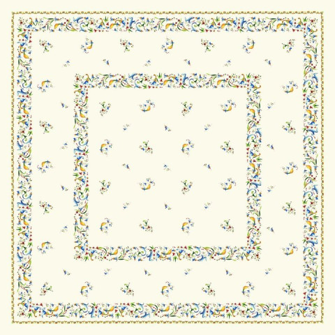 Toscana Cotton Printed Tablecloth Toscana 47 In Sq | Gracious Style