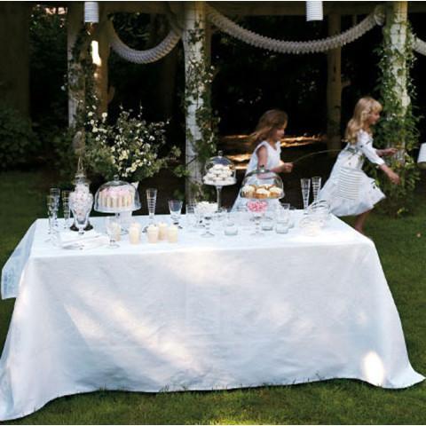 Siena White Damask Table Linens | Gracious Style