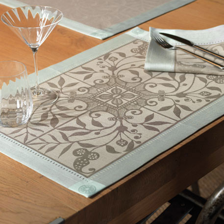 Venezia Ash Beige Damask Table Linens | Gracious Style