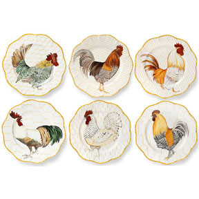 Plumes Set of Six Dinner Plates | Gracious Style