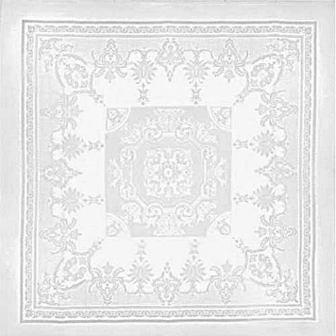 "Beauregard White Tablecloth 75""X75"", 100% Cotton 
