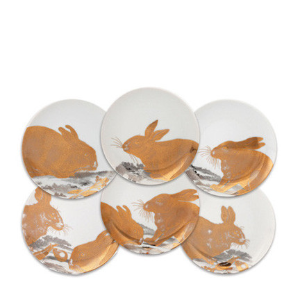 Rabbits Gold/Platinum Canapes Mixed Boxed Set/6 | Gracious Style