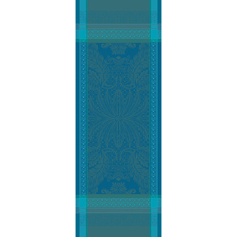 "Isaphire Emeraude Runner 21""X59"", 100% Cotton, Green Sweet 