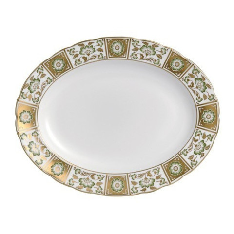 Derby Panel Green Medium Platter 13 in Round | Gracious Style