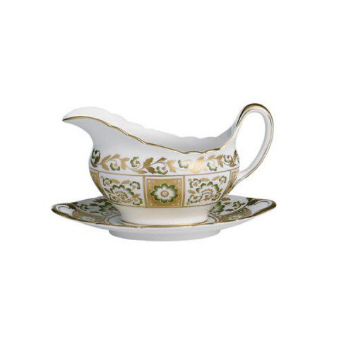 Derby Panel - Green Sauce Boat | Gracious Style