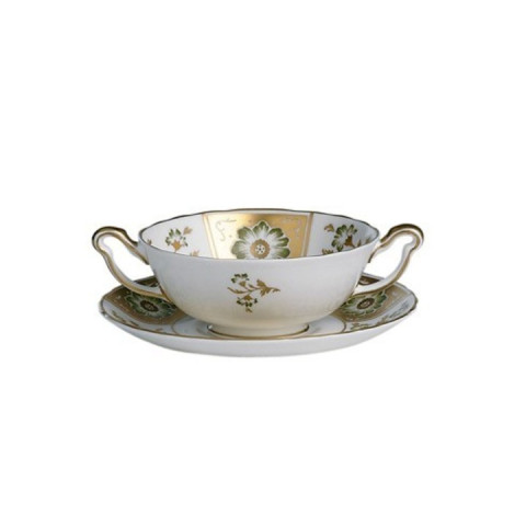 Derby Panel - Green Cream Soup Cup Stand | Gracious Style