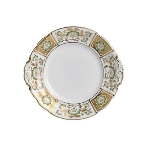 Derby Panel Green Cake Plate 9 in Round | Gracious Style