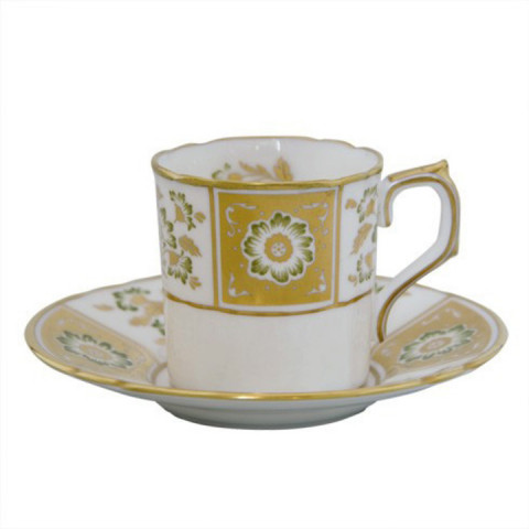 Derby Panel Green Coffee Cup 3 in High | Gracious Style