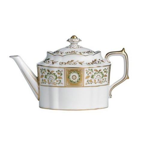 Derby Panel Green Large Tea Pot 43.25 oz | Gracious Style