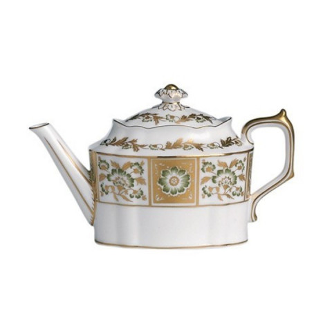 Derby Panel Green Small Tea Pot 30.5 oz | Gracious Style