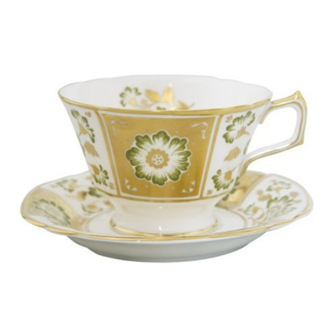 Derby Panel Green Breakfast Cup 3.25 in High | Gracious Style