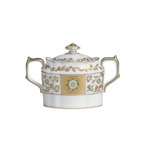 Derby Panel Green Covered Sugar Bowl 9.5 oz | Gracious Style