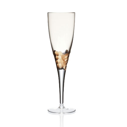 Paillette White Wine Glass Gold | Gracious Style