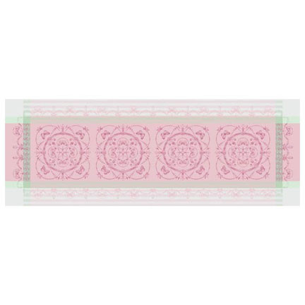 """Eugenie Candy Runner 21""""X59"""", 100% Cotton, Green Sweet 